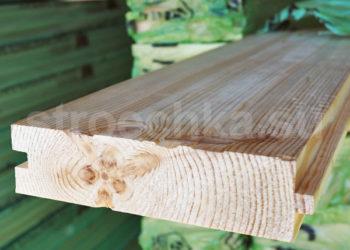 Доска пола сосна, ель сорт АВ, 143 (135) х 45 мм