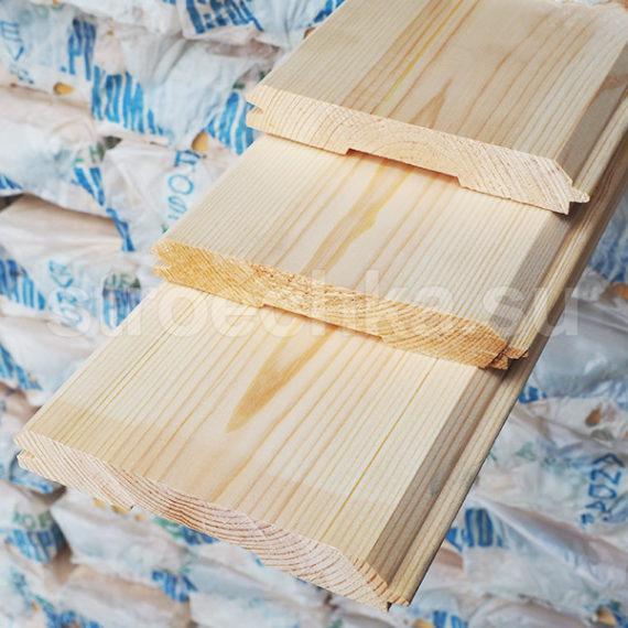 Имитация бруса сосна, ель сорт АВ, 173 (165) x 22 мм