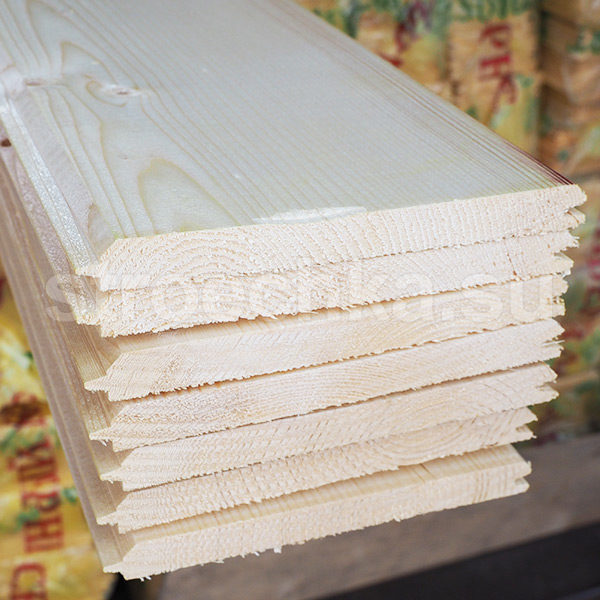 Имитация бруса сосна, ель, 148 (140) x 15 мм