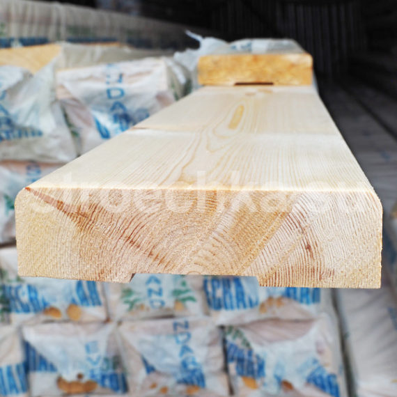 Палубная доска сосна, ель 140 x 36 x 6000 мм